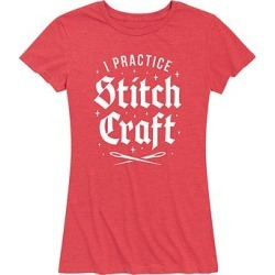 Instant Message Women's Women's Tee Shirts HEATHER - Heather Red 'Stitch Craft' Relaxed-Fit Tee - Women & Plus