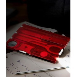 Tech Zebra Red - Red 12-in-1 Stainless Steel Card-Shape Multi-Tool found on Bargain Bro from zulily.com for USD $7.59