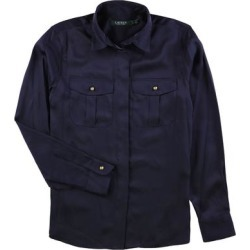 Ralph Lauren Womens Long Sleeve Button Up Shirt, Blue, X-Large found on Bargain Bro Philippines from Overstock for $53.99