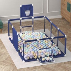 Focus Family 92.5 Inch Large Kid Baby Playpen Playard w/ Basketball Hoop, Size 43.3 H x 92.5 W x 50.8 D in   Wayfair found on Bargain Bro Philippines from Wayfair for $82.87
