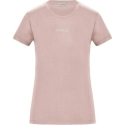 Slim Fit T-shirt - Pink - Moncler Tops found on Bargain Bro Philippines from lyst.com for $255.00