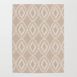 Diamond Dots In Tan Art Poster by Becky Bailey - 18