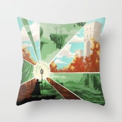Couch Throw Pillow | The World That Wakes, The World That Dreams by Nipuni - Cover (16