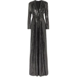 Sequined Metallic Knitted Jumpsuit - Black - Talbot Runhof Jumpsuits found on Bargain Bro India from lyst.com for $586.00