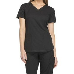 Dickies Medical Uniforms Dynamix-V-Neck Top (Size XS) Black, Polyester,Spandex found on Bargain Bro Philippines from ShoeMall.com for $30.99