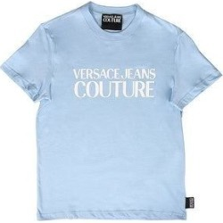 petite Versace Jeans Couture Light Blue Pure Cotton Oversized Logo Short Sleeve T-Shirt- (XL), Men's found on Bargain Bro from Overstock for USD $68.39
