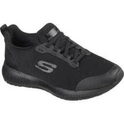 Skechers Women's Sneakers BLK - Black Work Squad SR Sneaker - Women found on Bargain Bro Philippines from zulily.com for $54.99