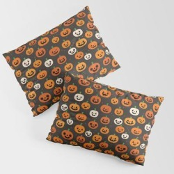 Jack-o-lanterns King Size Pillow Sham by Sara Showalter - STANDARD SET OF 2 - Cotton found on Bargain Bro from Society6 for USD $30.39