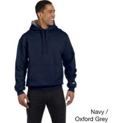 Champion Men's 90/10 Cotton Max Pullover Hoodie (3XL,navy/oxford gray), Blue found on Bargain Bro Philippines from Overstock for $33.74