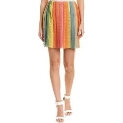 Valentino Lace Silk-Blend Mini Skirt (42), Women's, Multicolor found on Bargain Bro Philippines from Overstock for $593.99