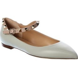 Valentino Rockstud Leather Flat (41), Women's, Multicolor found on Bargain Bro Philippines from Overstock for $613.79