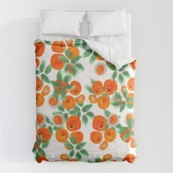 Comforters   Fresh Orange Juice Pattern by Anoellejay - Queen: 88