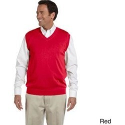 Men's Lightweight Cotton V-neck Vest (M,Red) found on MODAPINS from Overstock for USD $28.97