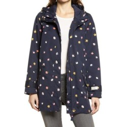Coast Waterproof Floral Hooded Raincoat - Blue - Joules Coats found on MODAPINS from lyst.com for USD $180.00