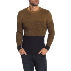 Lindbergh Mens Sweater Black Brown Size XL Crewneck Colorblock Knit (XL), Men's found on MODAPINS from Overstock for USD $68.98