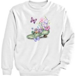 Women's Graphic Sweatshirt-Shoe, White/Shoe S Misses found on Bargain Bro from Blair.com for USD $18.99
