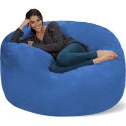 Bean Bag Chair 5-foot Memory Foam Removable Cover Bean Bags found on Bargain Bro from Overstock for USD $162.44