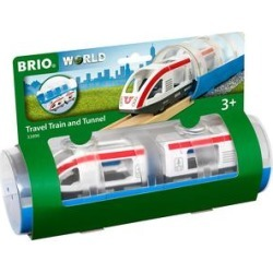 BRIO Push and Pull Toys - White & Red Travel Train & Tunnel found on Bargain Bro from zulily.com for USD $12.32