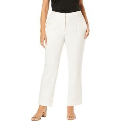 Plus Size Women's Wool-Blend Trousers by Jessica London in Ivory (Size 18 W) found on Bargain Bro Philippines from Ellos for $79.99
