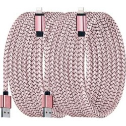Shou Lightning Cables Rose - Rose Gold 10' Nylon Lightning Cable - Set of Two found on Bargain Bro from zulily.com for USD $9.87