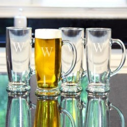 Personalized Craft Beer Mugs (Set of 4) found on Bargain Bro from Overstock for USD $32.29