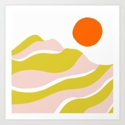 Art Print | Sierra Mountain Sunset by Sunshinecanteen - X-Small - Society6 found on Bargain Bro India from Society6 for $17.49