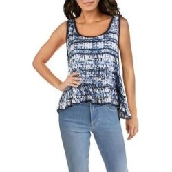 Splendid Womens Tank Top Pink Printed - Blue (M), Women's(rayon) found on Bargain Bro from Overstock for USD $16.45