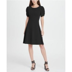 DKNY Black Petal Sleeve Above The Knee Dress 8 (Black - 8), Women's(knit, Solid) found on Bargain Bro from Overstock for USD $56.98