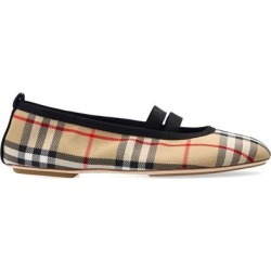 Patterned Ballet Flats Beige - Natural - Burberry Flats found on Bargain Bro India from lyst.com for $515.00