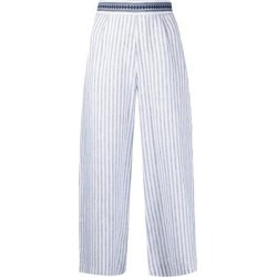 Stripe-print Cropped Trousers - White - Ermanno Scervino Pants found on Bargain Bro from lyst.com for USD $140.60