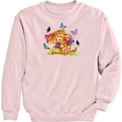 Women's Graphic Sweatshirt-Teddy, Classic Pink/Teddy M Misses found on Bargain Bro India from Blair.com for $24.99