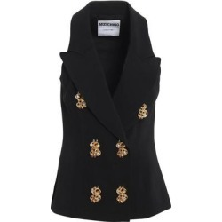 Dollar Buttons Gilet - Black - Moschino Jackets found on MODAPINS from lyst.com for USD $556.00