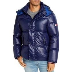 Tommy Hilfiger Mens Bomber Jacket Winter Down (Navy - M), Men's, Blue(nylon) found on Bargain Bro Philippines from Overstock for $134.22