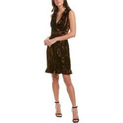 Anna Sui Metallic Velvet Sheath Dress (2), Women's, Gold found on MODAPINS from Overstock for USD $113.29