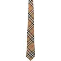 Beige Silk Vintage Check Modern Cut Tie - Metallic - Burberry Ties found on Bargain Bro India from lyst.com for $190.00
