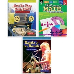 Shell Education Educational Workbooks - Grade 6 Learn-at-Home: Math Bundle found on Bargain Bro from zulily.com for USD $18.99