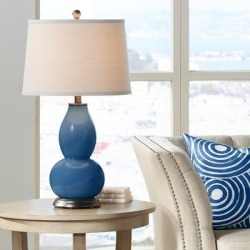 Regatta Blue Double Gourd Table Lamp found on Bargain Bro Philippines from LAMPS PLUS for $119.99