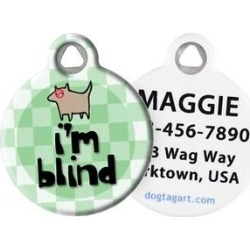 Dog Tag Art I'm Blind Personalized Dog & Cat ID Tag, Large