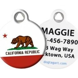 Dog Tag Art California Flag Personalized Dog & Cat ID Tag, Large