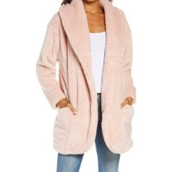 UGG Annona Faux Shearling Travel Cardigan - Natural - Ugg Knitwear found on Bargain Bro Philippines from lyst.com for $128.00