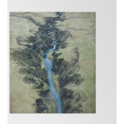 Aerial View Of Fjadrargljufur Canyon In Iceland - Landscape Photography Bed Throw Blanket by Michael Schauer - 51