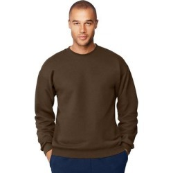 Hanes Men's Ultimate Cotton Heavyweight Crewneck Sweatshirt (Charcoal Heather - S), Men's, Grey Grey found on Bargain Bro Philippines from Overstock for $20.93