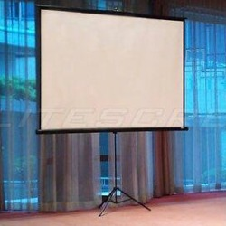 Elite Screens Tripod SeriesPortable Tripod Projector Screen in White, Size 70.0 H x 70.0 W in | Wayfair T99UWS1 found on Bargain Bro Philippines from Wayfair for $138.40