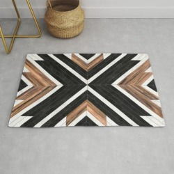 Urban Tribal Pattern No.1 - Concrete And Wood Modern Throw Rug by Zoltan Ratko - 2' x 3' found on Bargain Bro from Society6 for USD $27.93