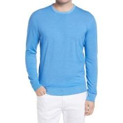 Men's Wool Crewneck Sweater - Blue - Corneliani Knitwear found on MODAPINS from lyst.com for USD $545.00