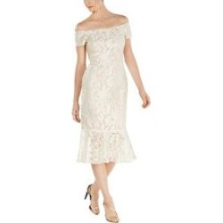 Calvin Klein Womens Party Dress Lace Midi (Ivory - 12), Women's found on Bargain Bro Philippines from Overstock for $62.99