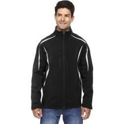 Enzo Colorblocked Three-Layer Fleece Bonded Soft Shell Men's Black 703 Jacket (S) found on Bargain Bro Philippines from Overstock for $46.99