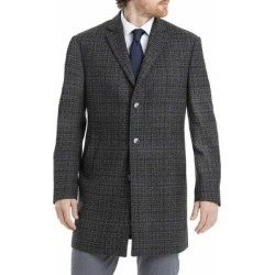 Calvin Klein Mens Overcoat Gray Size 52L Prosper X-Fit Plaid Wool (52L), Men's found on Bargain Bro Philippines from Overstock for $185.97