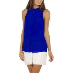 Women Casual Chiffon Blouse Sleeveless Shirt T-Shirt Summer Tops (Royal Blue - XL), Women's found on Bargain Bro Philippines from Overstock for $35.88