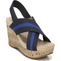 Wide Width Women's Dream Big Wedge by LifeStride in Navy Cobalt (Size 8 1/2 W) found on Bargain Bro Philippines from Woman Within for $74.99